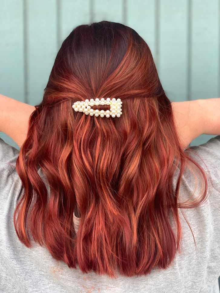 Red hair done at Mill Pond Salon